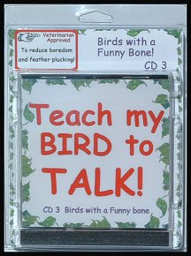 Train a bird to talk with bird training cds.