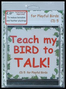 Teach a parakeet to talk with a parakeet training cd.