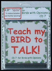 Teach a parrot to talk with a parrot training cd.